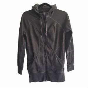 90 Degree by Reflex Front Zip Hooded Jacket Grey S